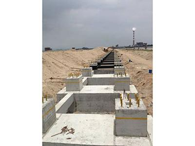 Foundation of wind fence